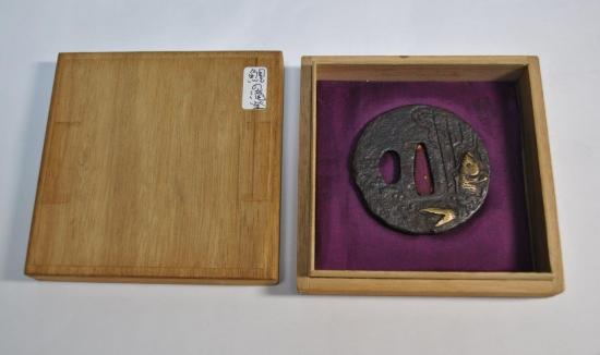 時代刀装具鍔鯉の滝登り図