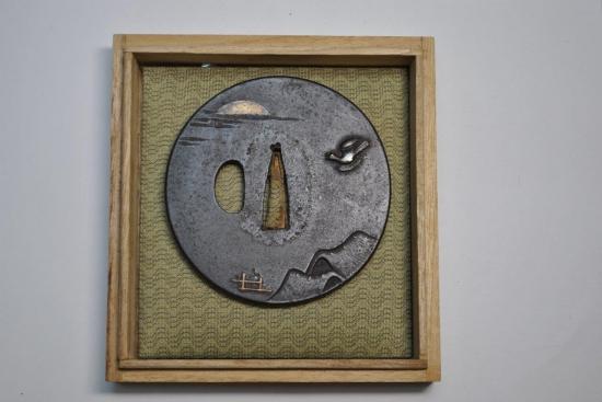 時代刀装具鍔月とホトトギス