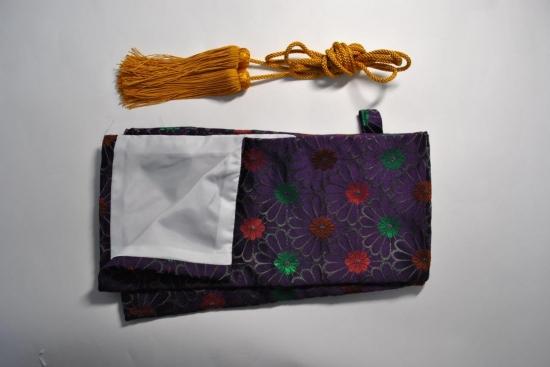 高級刀袋紫菊模様房付